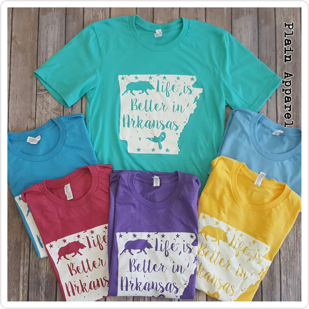 Life is Better in Arkansas ☆Spring Colors☆ - Bless UR Heart Boutique
