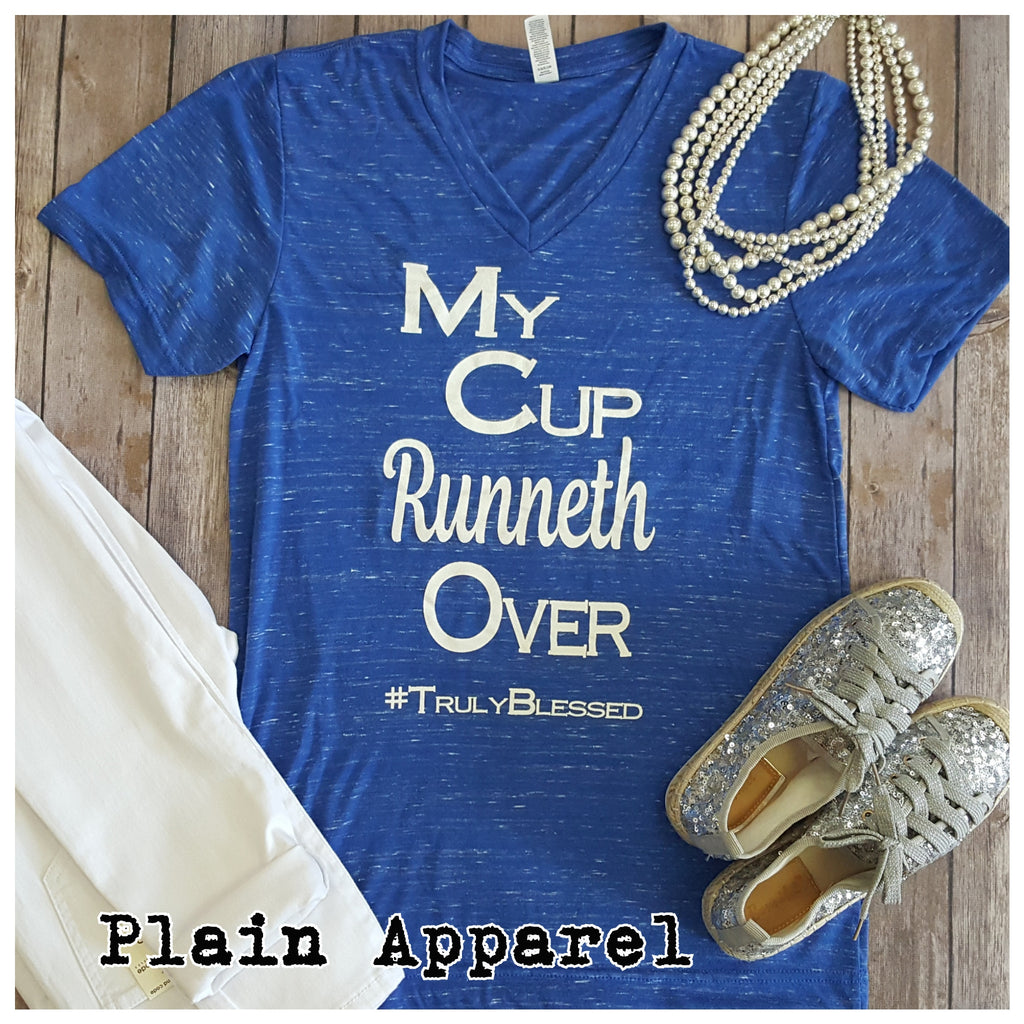 My Cup Runneth Over V-Neck - Bless UR Heart Boutique