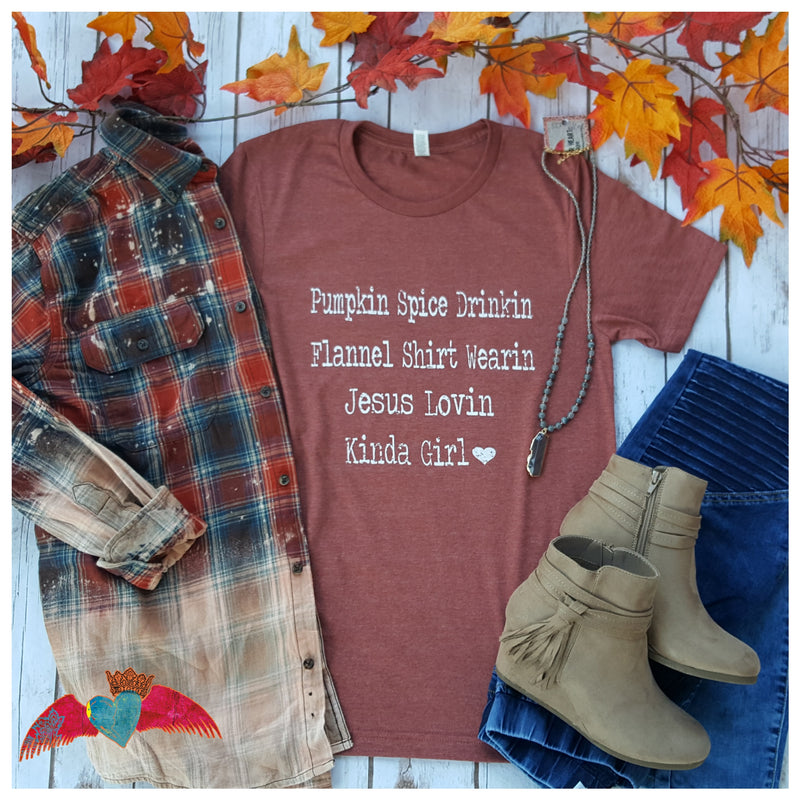 Pumpkin Spice Drinkin Tee - Bless UR Heart Boutique