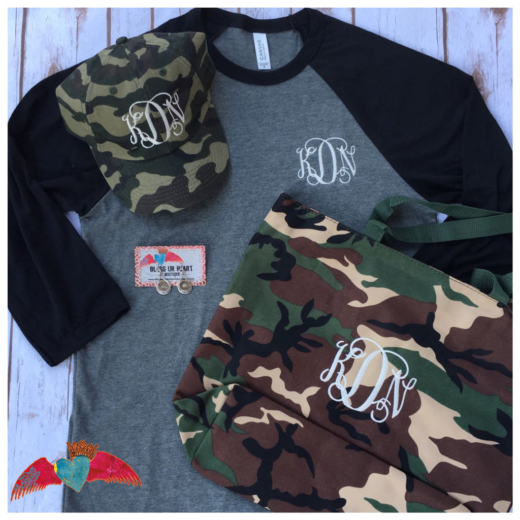 Camo Monogram Blessed Box