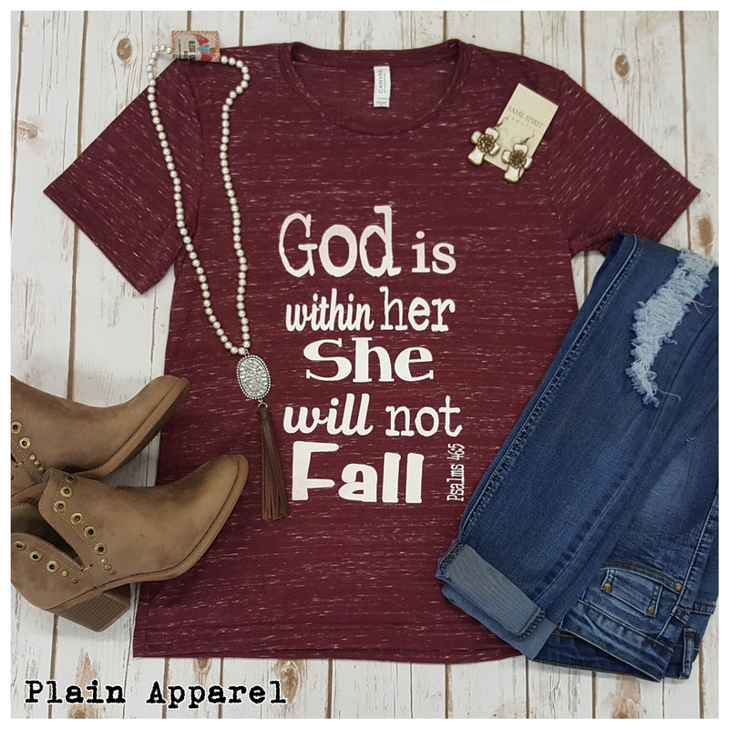 God is Within Her Tee - Bless UR Heart Boutique