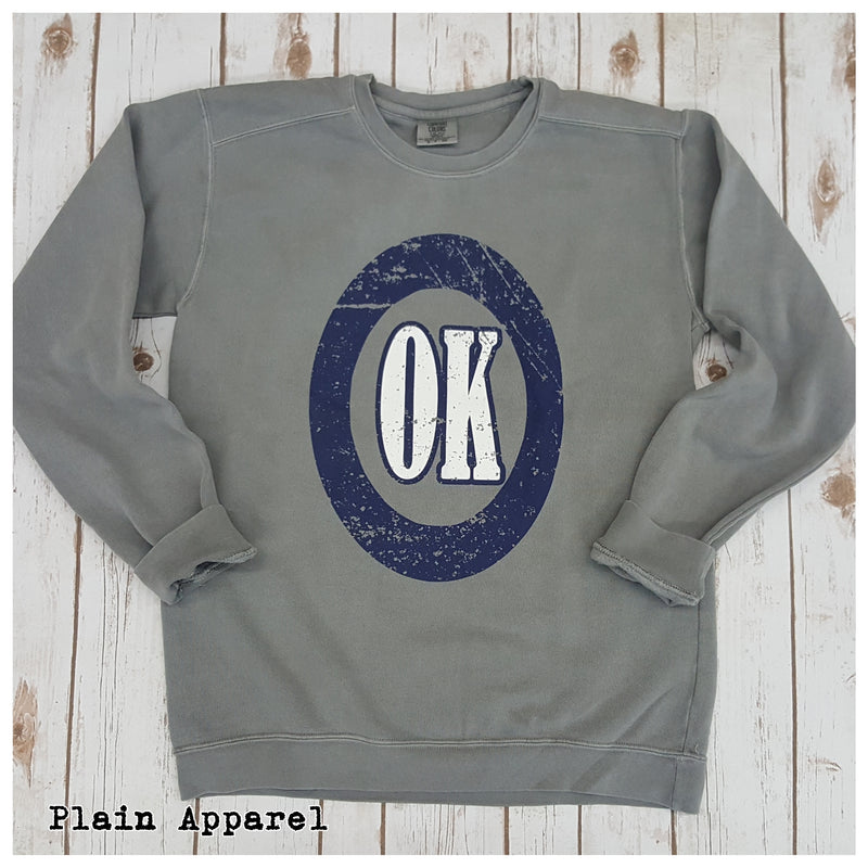 OK Comfort Colors Crew Sweatshirt