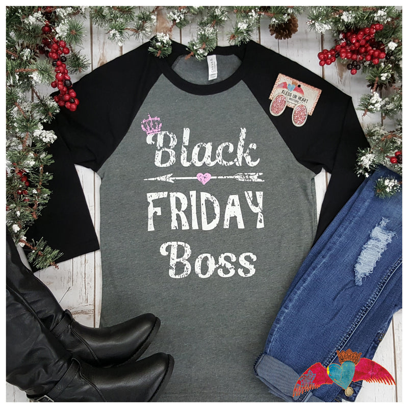 Black Friday Boss Raglan