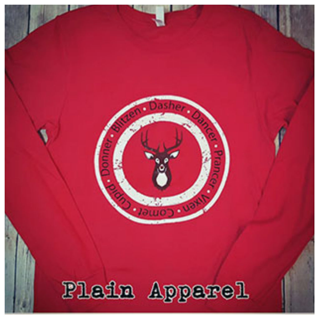 Reindeer Rudolph Long Sleeve