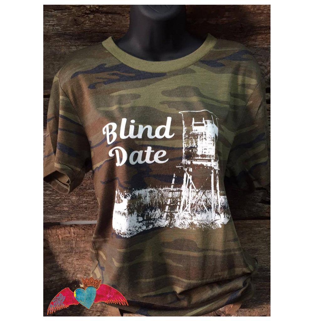 Camo Short Sleeve Blind Date - Bless UR Heart Boutique