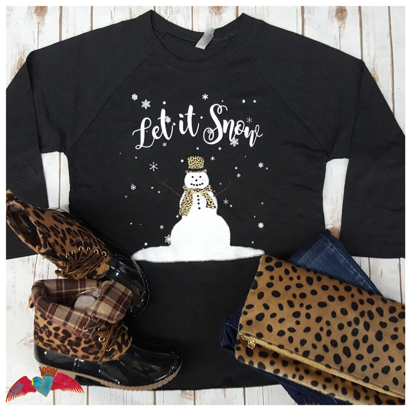 Let it Snow Snowman RAGLAN