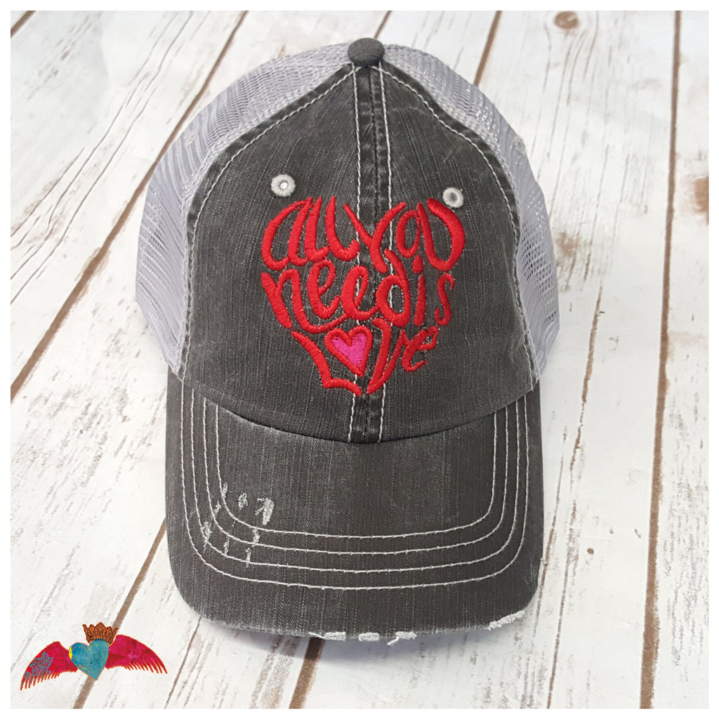 All You Need Is Love Cap - Bless UR Heart Boutique