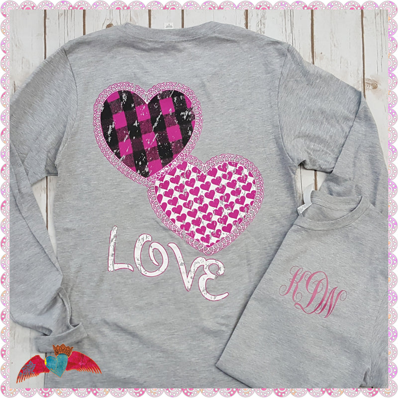 Monogram Love Heart Crew