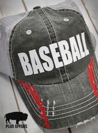 Baseball Softball RED LACING Cap
