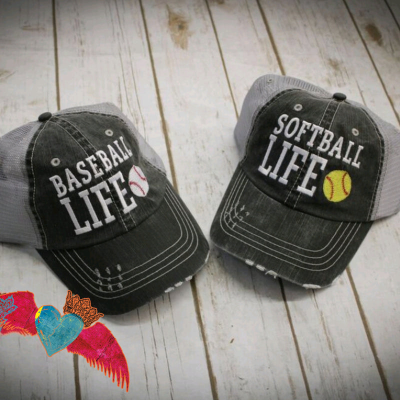 Baseball Softball Life Ball Cap - Bless UR Heart Boutique