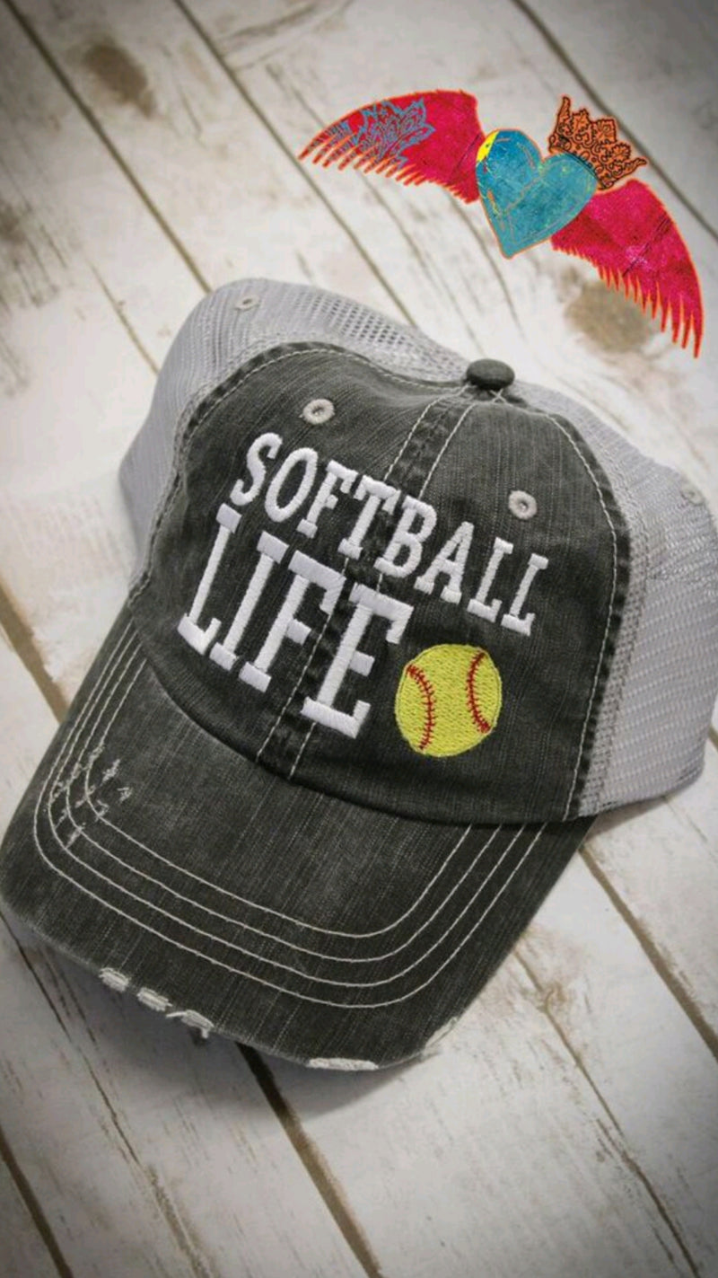 Baseball Softball Life Ball Cap