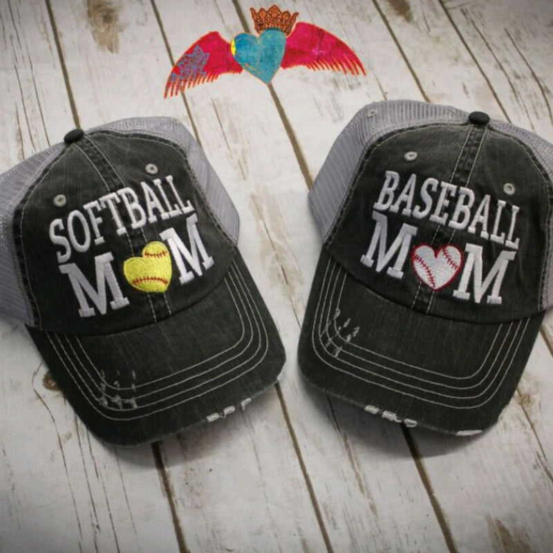 Baseball Softball MOM Ball Cap - Bless UR Heart Boutique