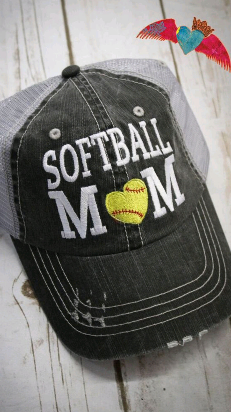 Baseball Softball MOM Ball Cap