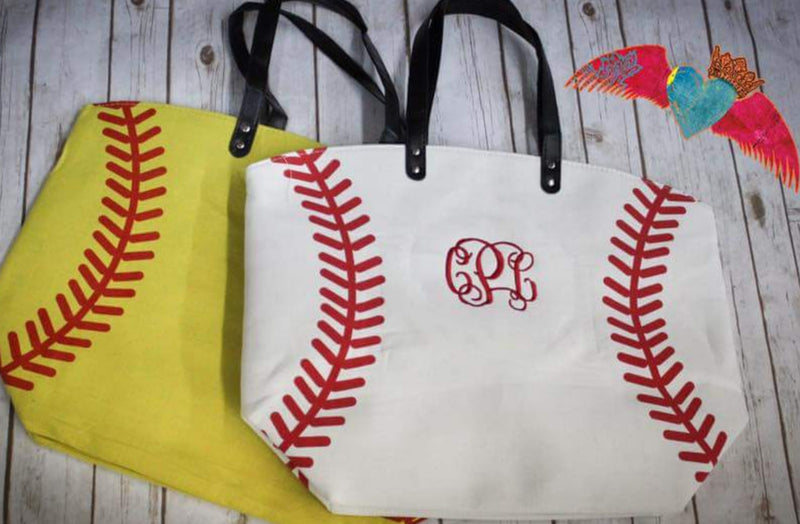 Baseball or Softball Canvas Bag - Bless UR Heart Boutique
