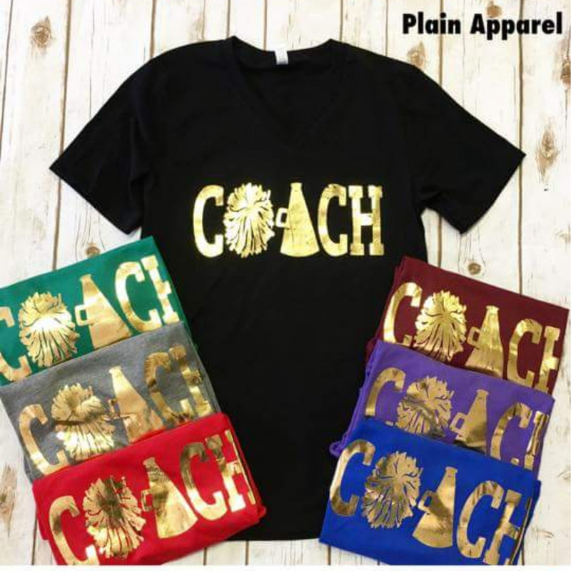 CHEER •COACH• GOLD V-neck