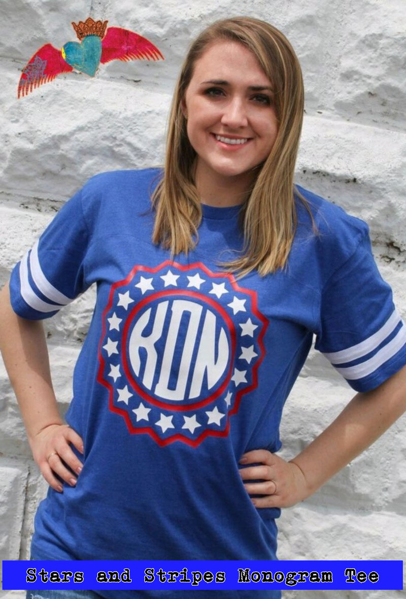 Stars and Stripes Monogram Tee