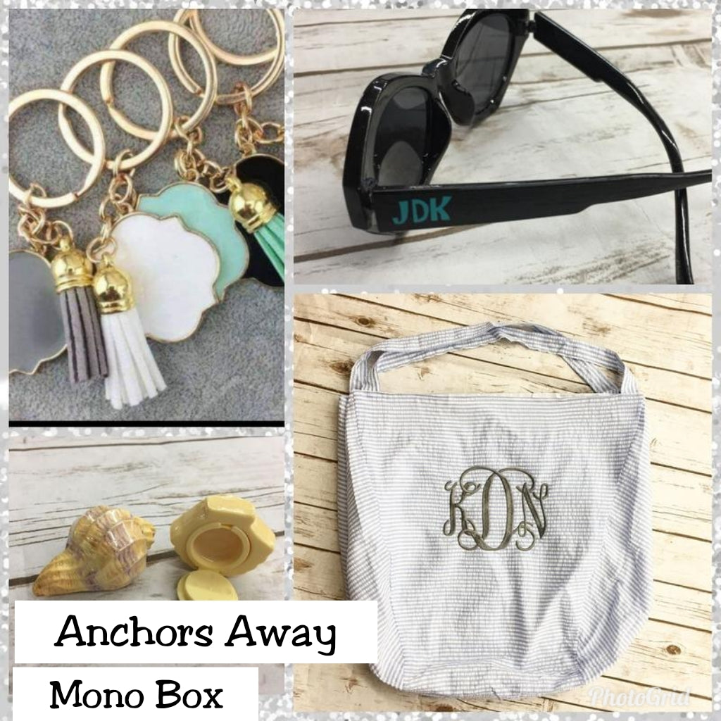 Anchors Away Mono Box - Bless UR Heart Boutique