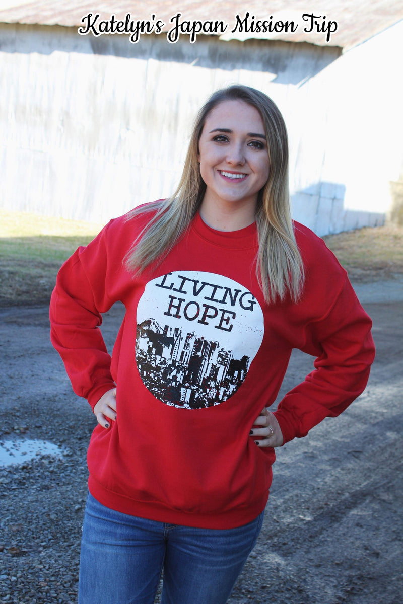 Living Hope Crew Sweatshirt - Bless UR Heart Boutique