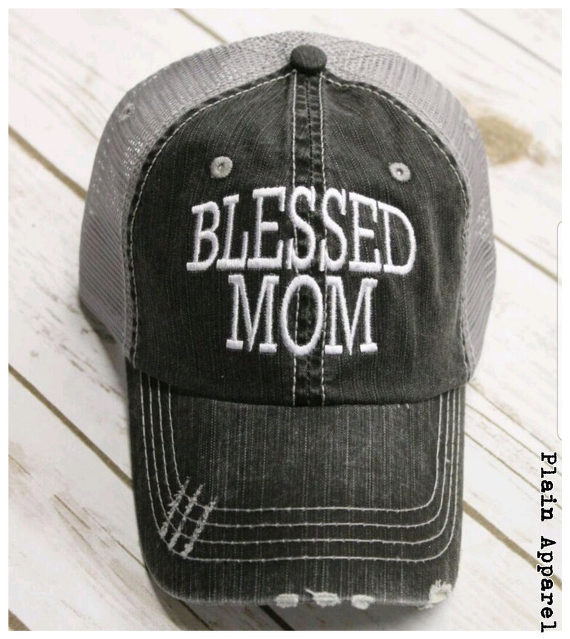 Blessed Mom Cap - Bless UR Heart Boutique