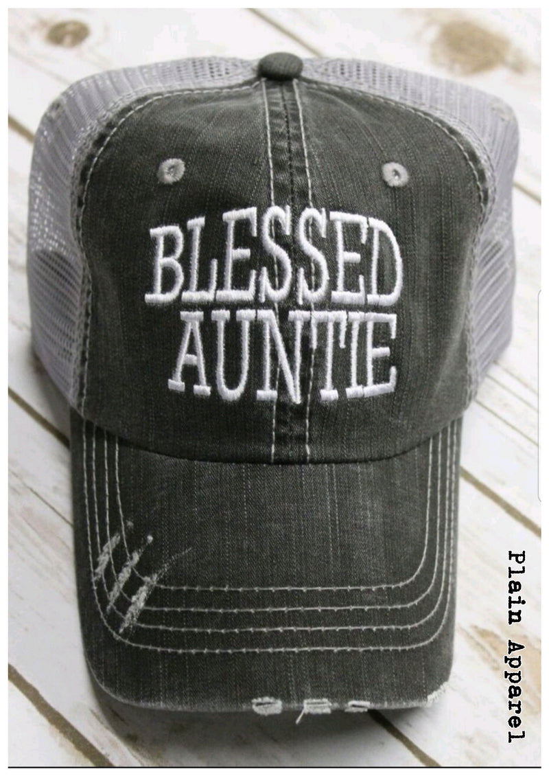 Blessed Auntie Cap - Bless UR Heart Boutique