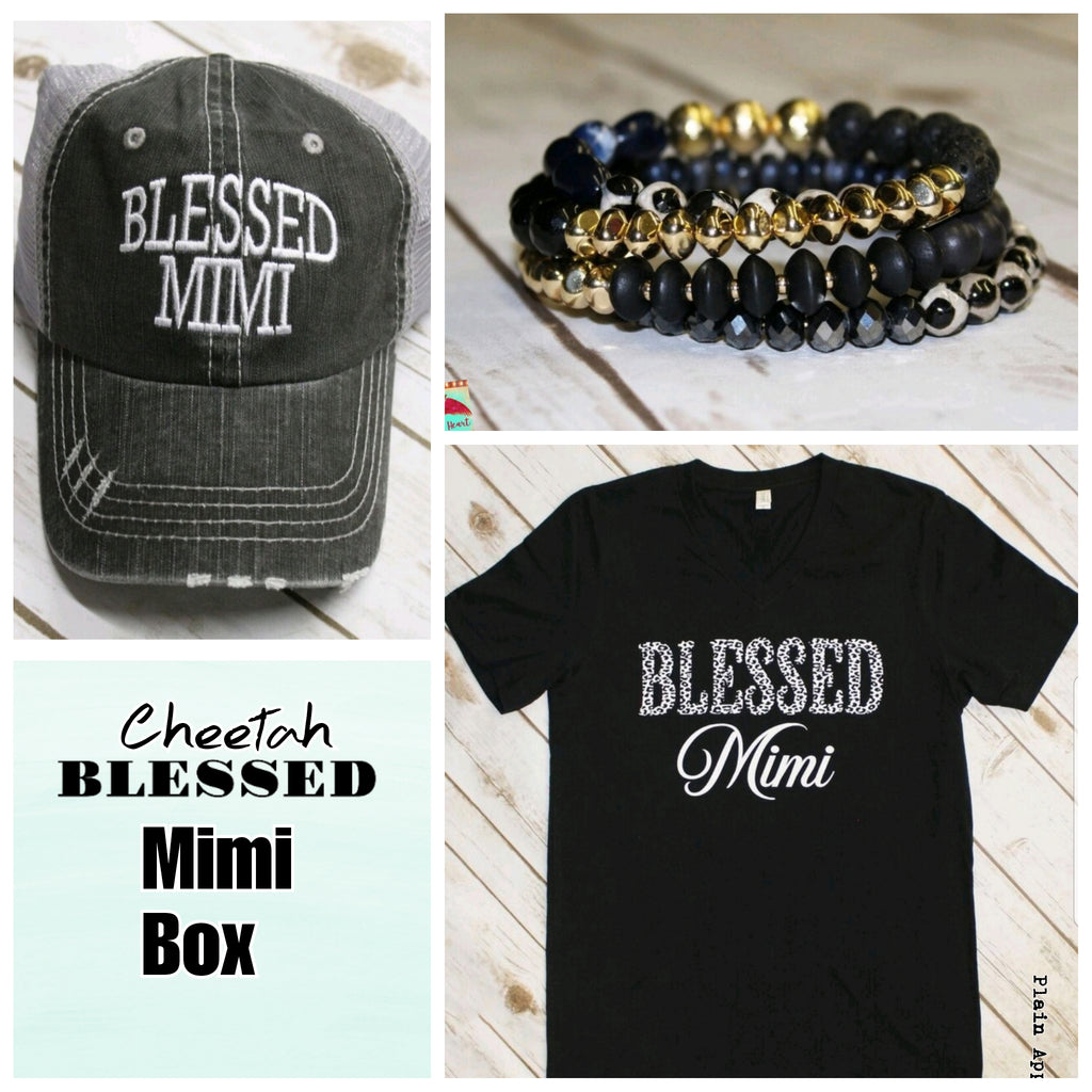 Cheetah Blessed MIMI Box - Bless UR Heart Boutique