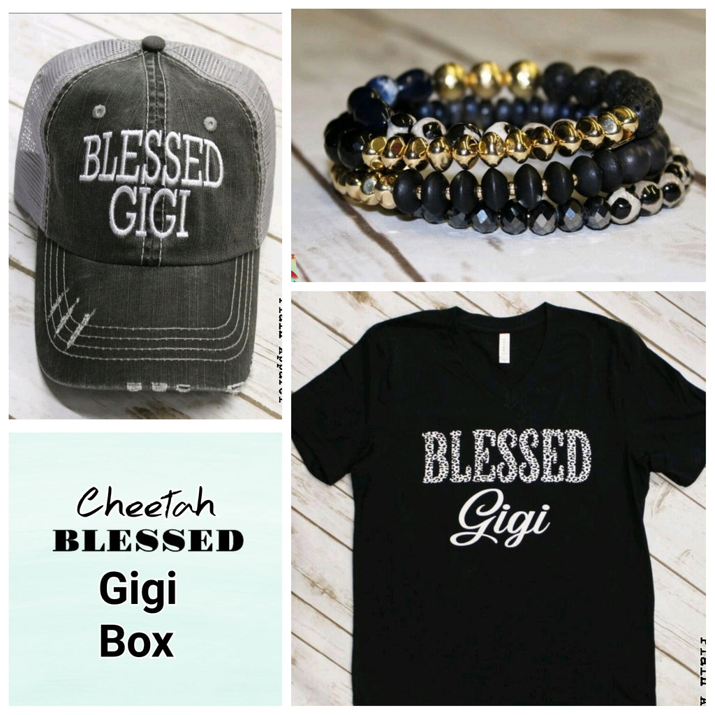 Cheetah Blessed GIGI Box - Bless UR Heart Boutique