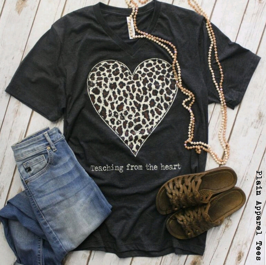 Teaching from the Heart V-Neck - Bless UR Heart Boutique
