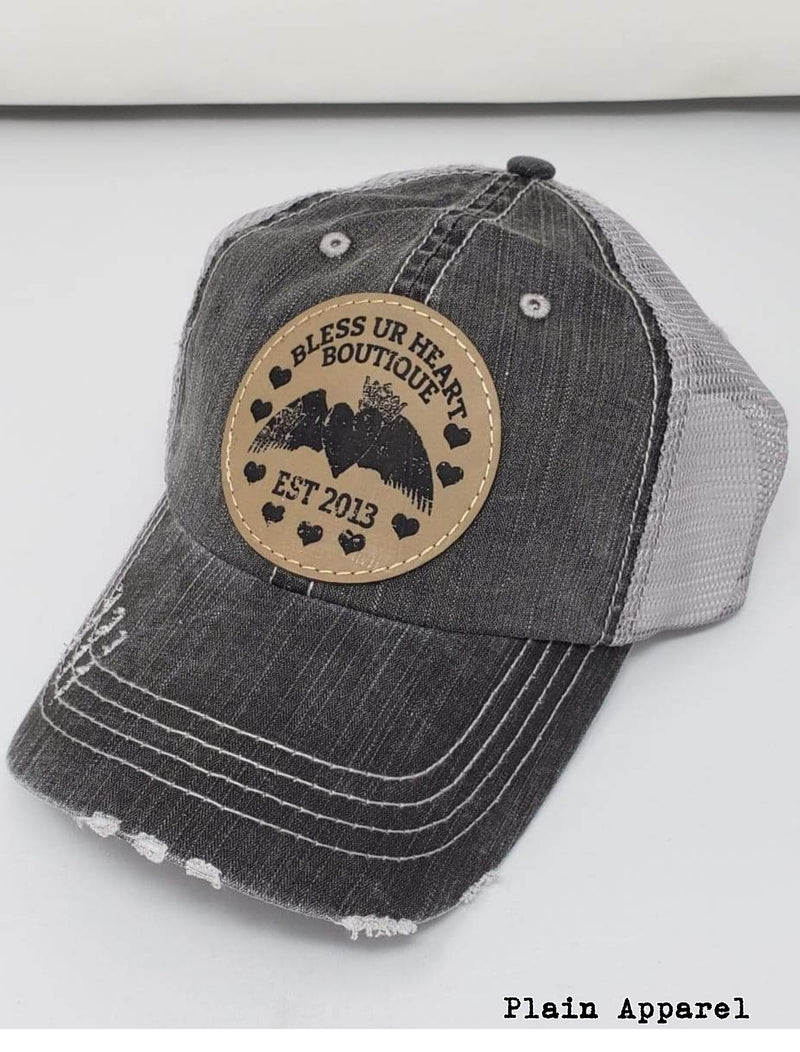 BUH LOGO Tan Patch Cap - Bless UR Heart Boutique