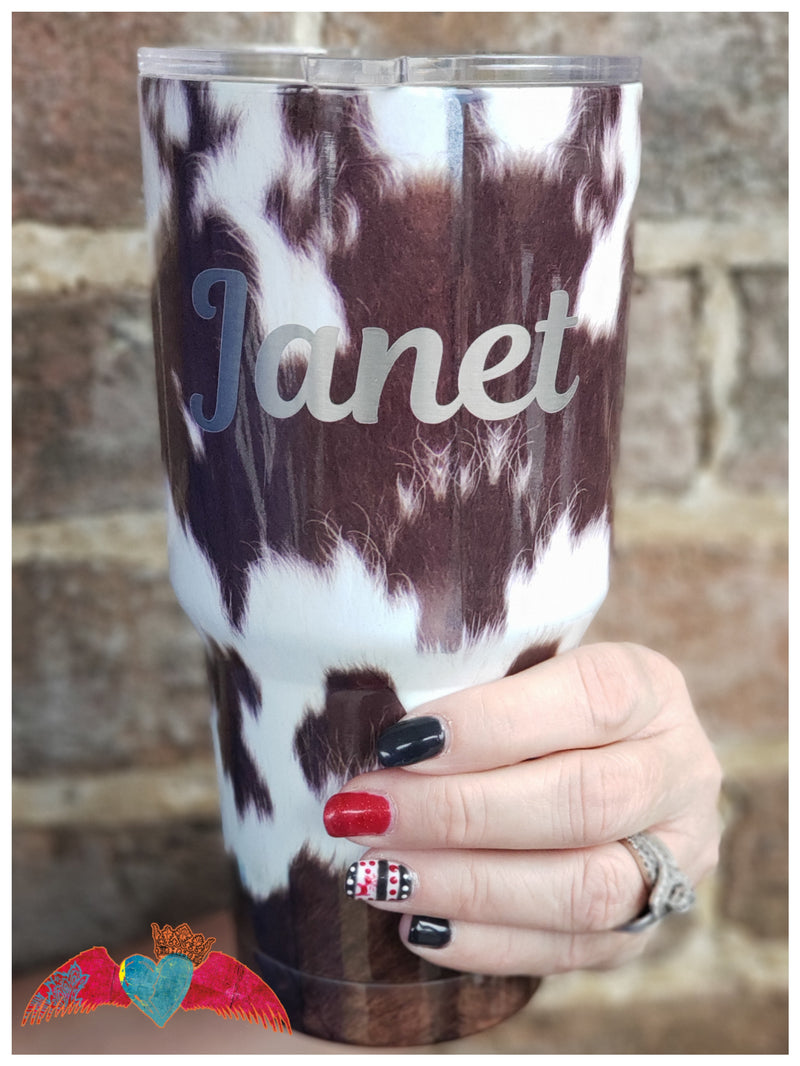 Cow Print 30oz Tumbler - Bless UR Heart Boutique
