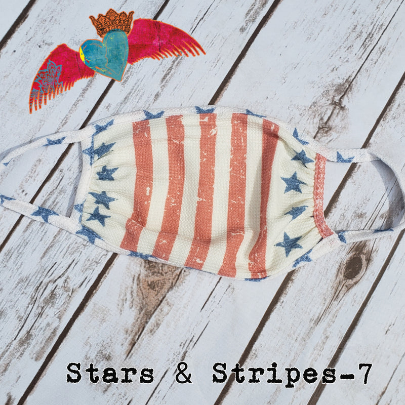 Stars & Stripes Face Mask 7 - Bless UR Heart Boutique