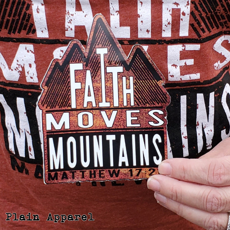 Faith Moves Mountains Sticker Decal - Bless UR Heart Boutique