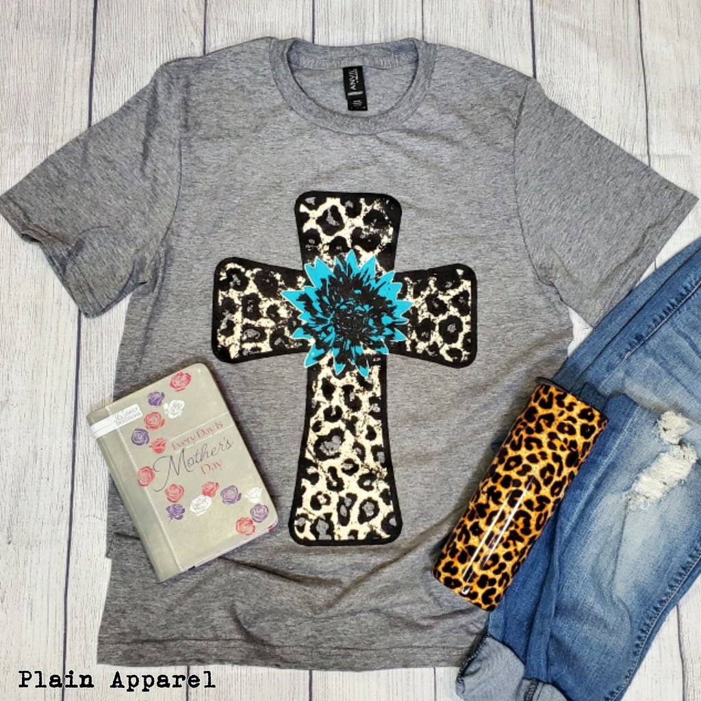 Leopard Cross Mother's Day Box - Bless UR Heart Boutique