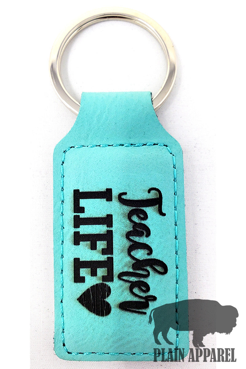 Teacher Life Engraved Keychain - Bless UR Heart Boutique