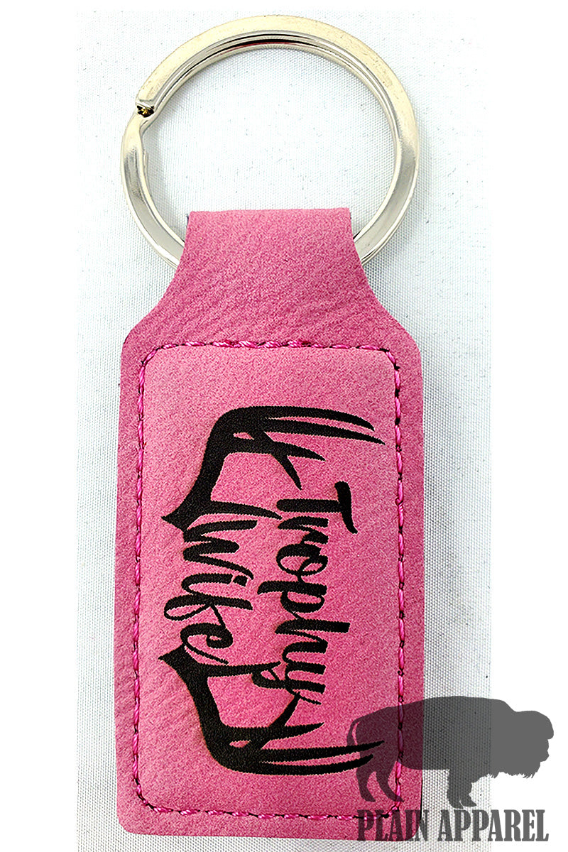 Trophy Wife Engraved Keychain - Bless UR Heart Boutique