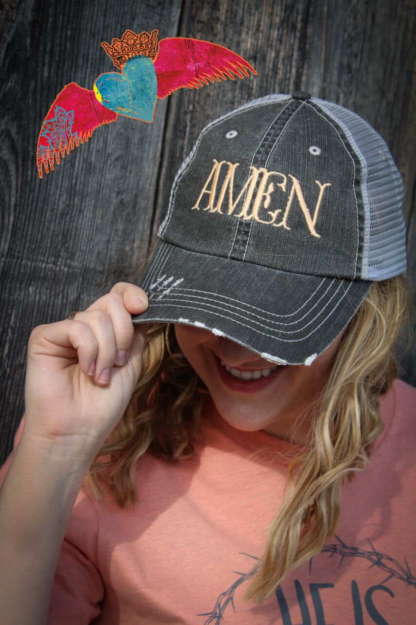 AMEN Ball Cap - Bless UR Heart Boutique