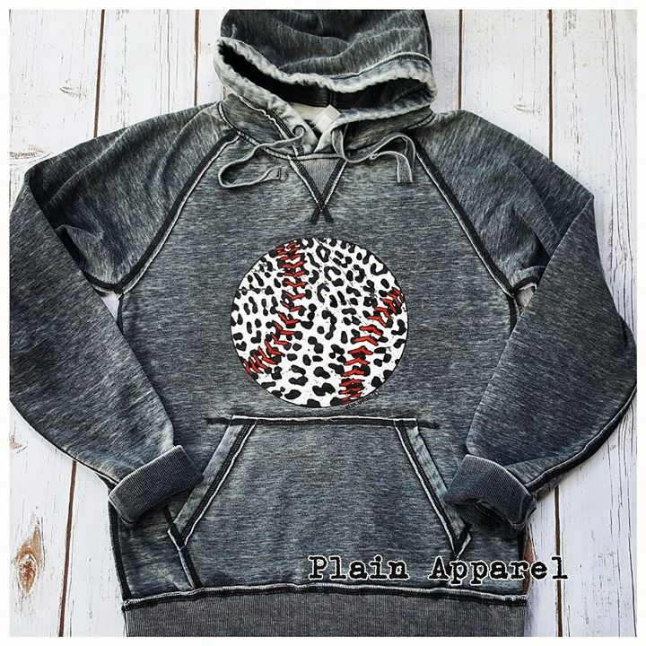 Baseball Leopard Hoodie - Bless UR Heart Boutique