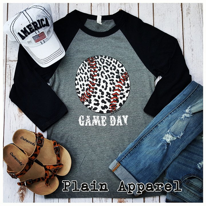 Baseball Leopard Raglan - Bless UR Heart Boutique