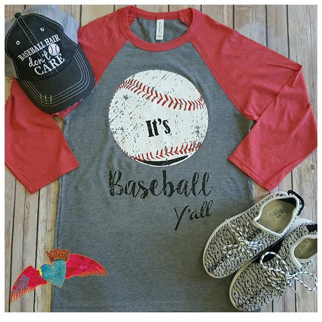 It's Baseball Y'all Raglan