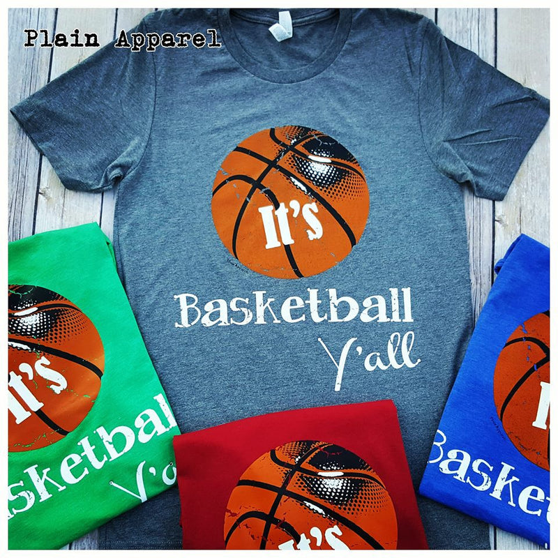It's Basketball Y'all Crew Neck - Bless UR Heart Boutique