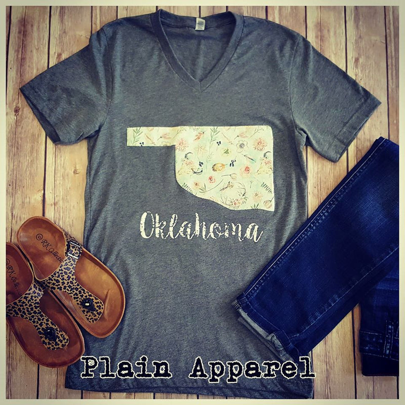 Boho Oklahoma V-Neck - Bless UR Heart Boutique
