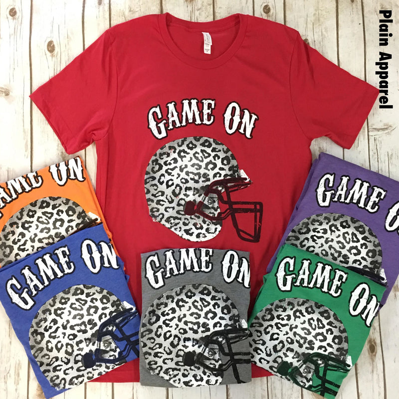 Game On Leopard Helmet Crew