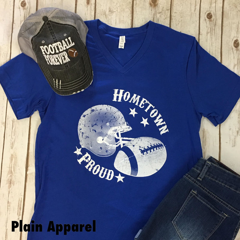 Football Hometown Proud V-Neck