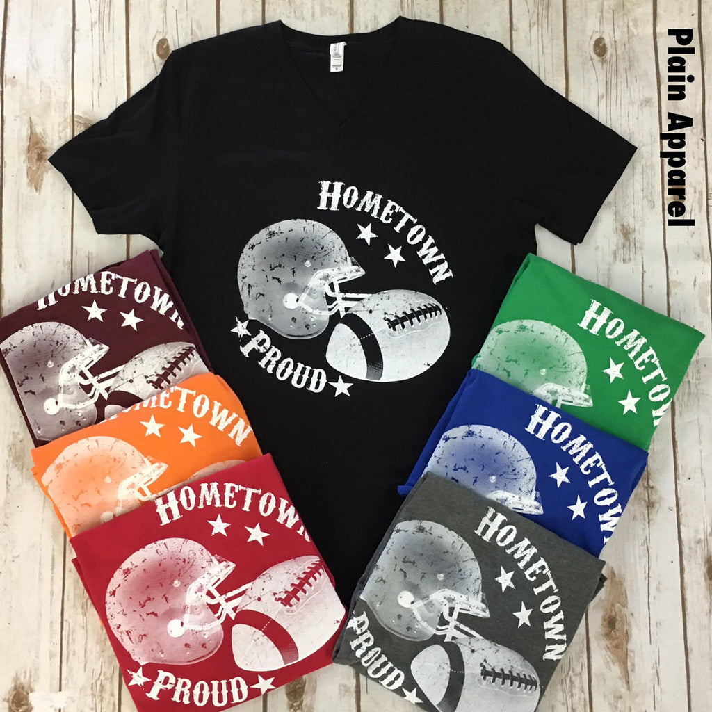 Football Hometown Proud V-Neck - Bless UR Heart Boutique