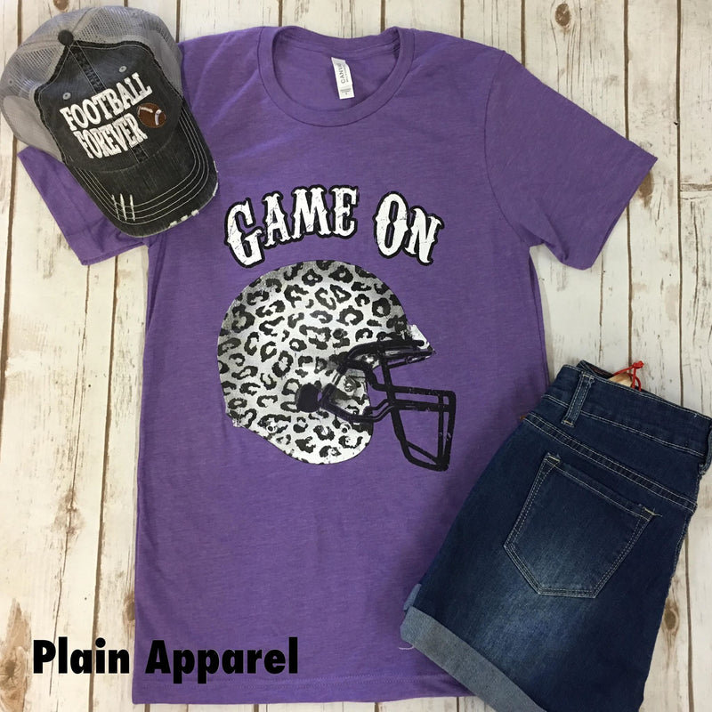Game On Leopard Helmet Crew - Bless UR Heart Boutique