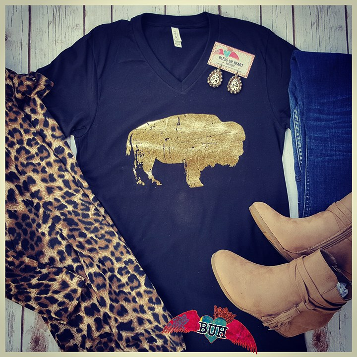 Gold Buffalo V-Neck