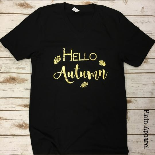 Hello Autumn V-Neck - Bless UR Heart Boutique