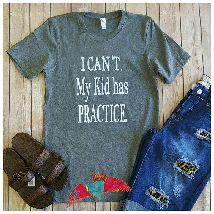 I Can't...... Gray Crew - Bless UR Heart Boutique