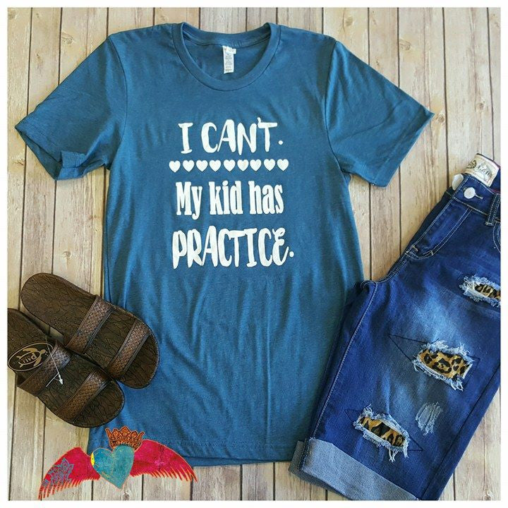 I Can't...... Heathered Teal Crew - Bless UR Heart Boutique