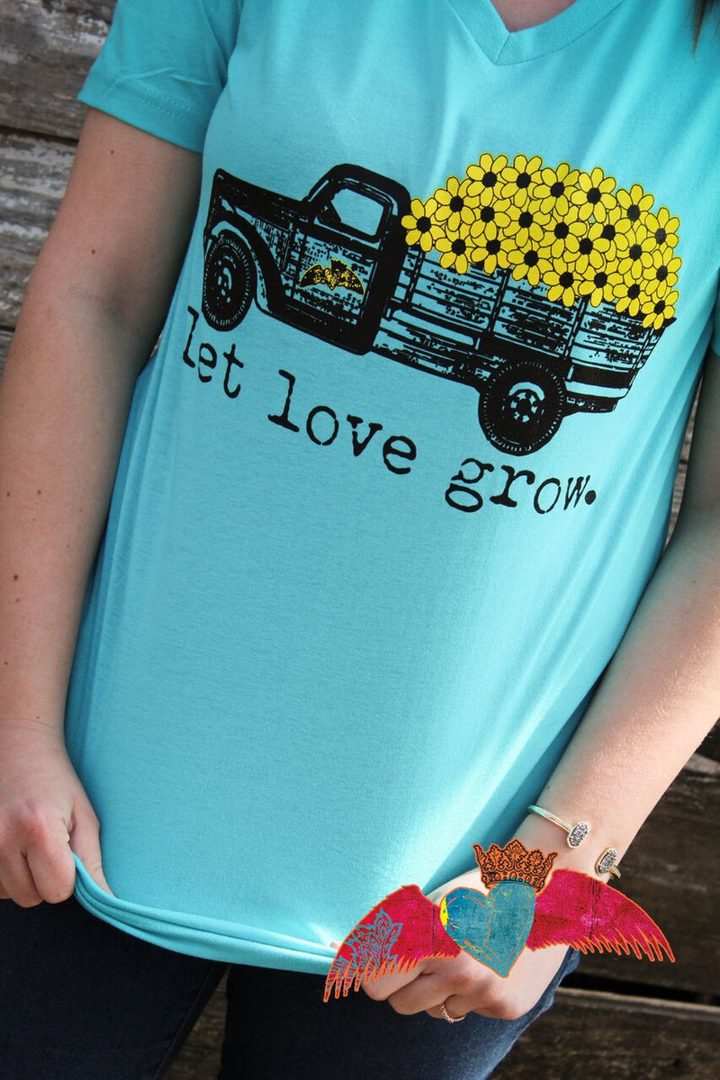 Let Love Grow Sunflower Truck - Bless UR Heart Boutique