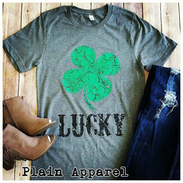 Lucky Shamrock Short Sleeve - Bless UR Heart Boutique